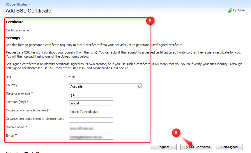 Adding And Renewing An Ssl Certificate Plesk 10 Host01