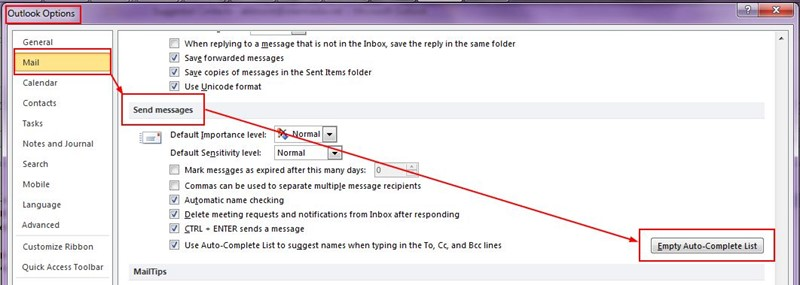 How To Reset The Outlook Nickname Autocompletion Cache